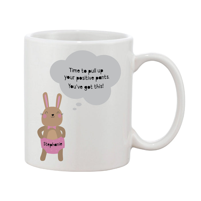 Positive Pants Personalised Name Mug