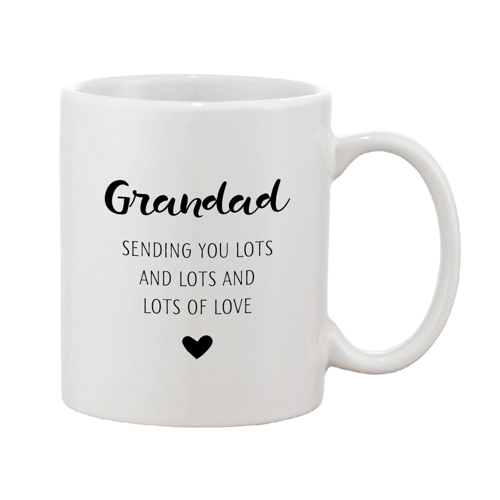 Black & White Heart Mug With Personalised Message