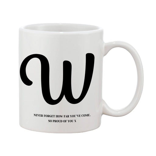 Swirly Initial Mug (Personalised Message Optional)