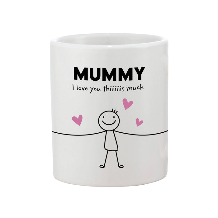 personalised I love  you mummy mug