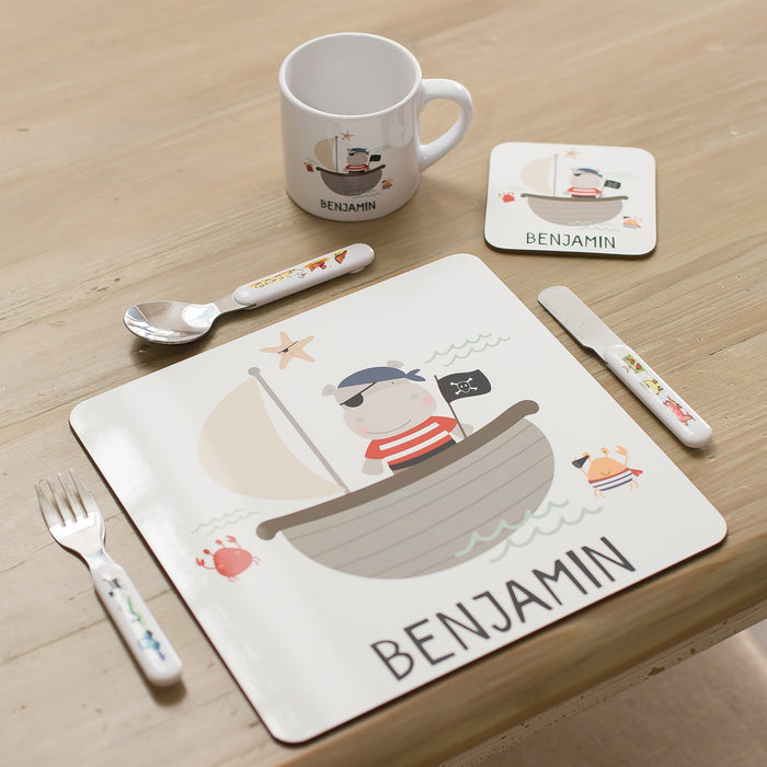 Personalised Children's Place Mat, Coaster & Mug - Various Designs