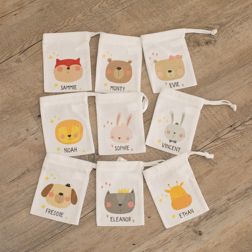Personalised Animal Kid's Treat Gift Bag - Various Designs