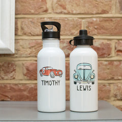 Personalised Classic Car or Bug Car Water Bottle