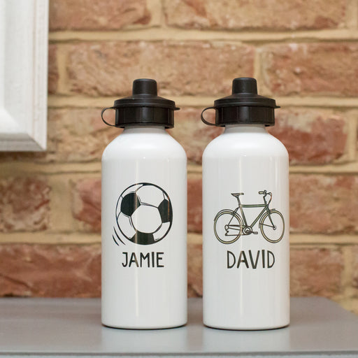Personalised Football or Bike Water Bottle