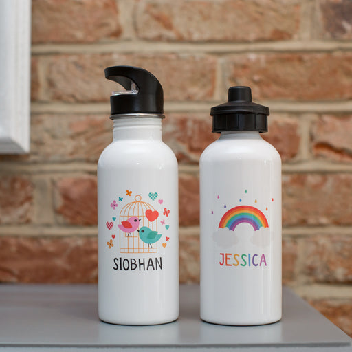 Children's Personalised Birdcage Or Rainbow Water Bottle