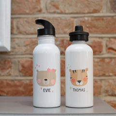 Children's Personalised Animal Water Bottles (16 Designs)