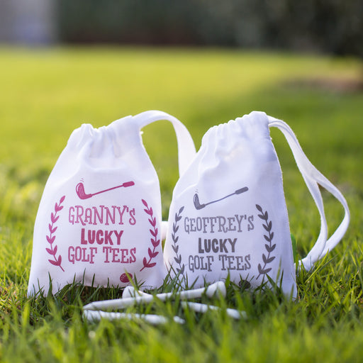 Personalised Lucky Golf Tees Gift Bag