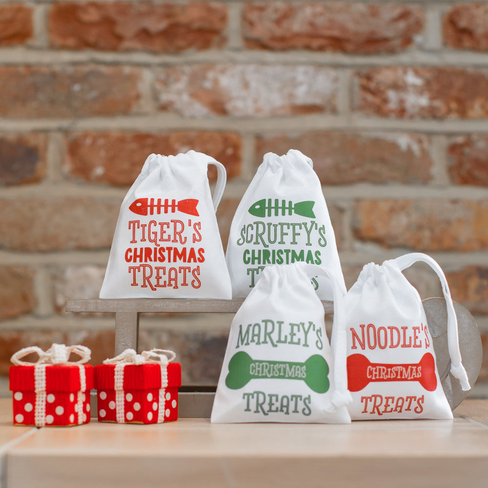Personalised Pets' Christmas Treats Gift Bag