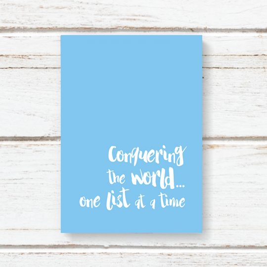 One List At A Time Notebook