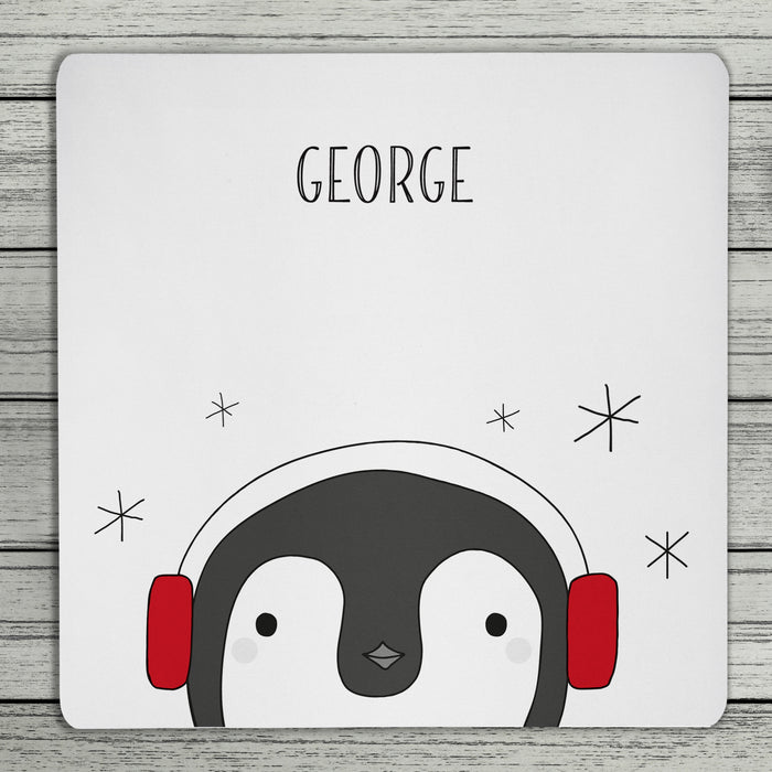 Personalised Penguin Coaster