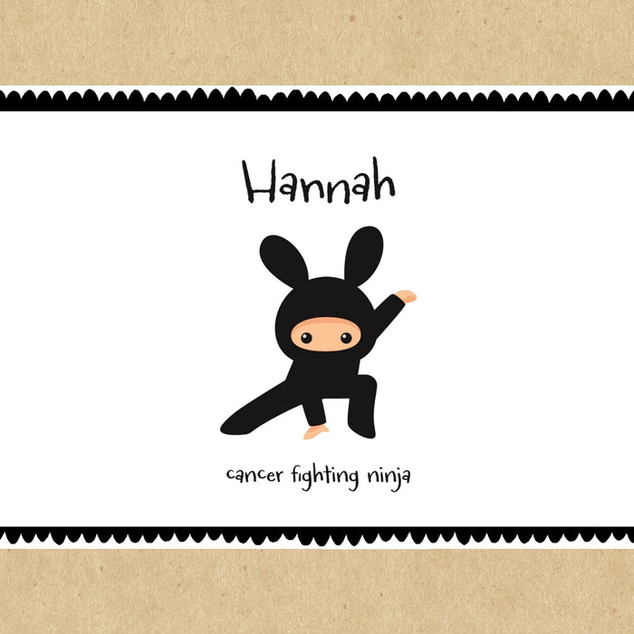 Cancer Fighting Ninja Personalised Gift Box