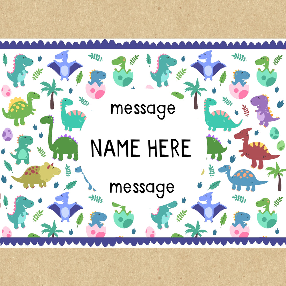Children's Dinosaur Personalised Gift Box