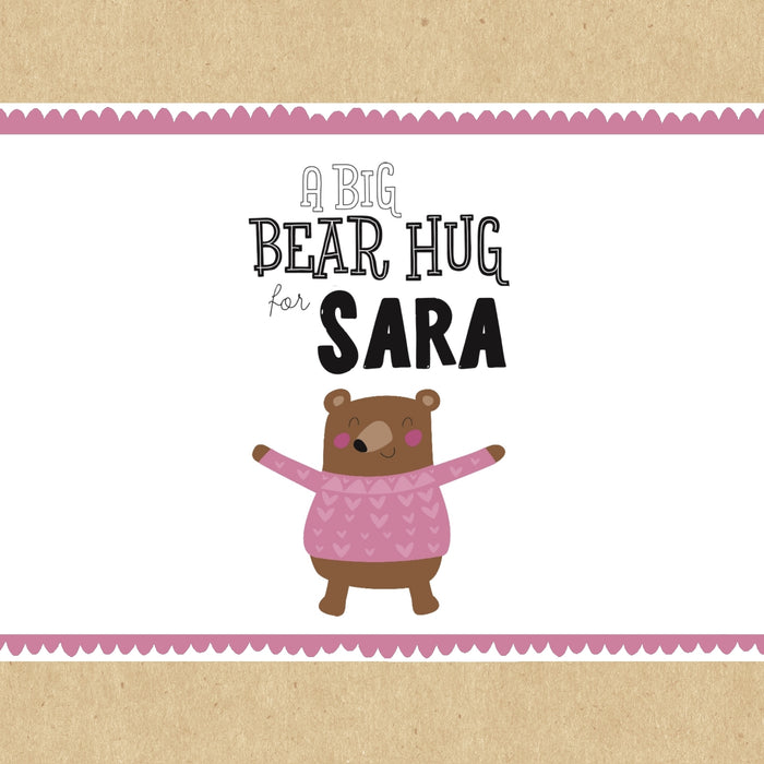 Pink Bear Hug Personalised Gift Box