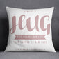 Personalised Hug Across The Miles Cushion