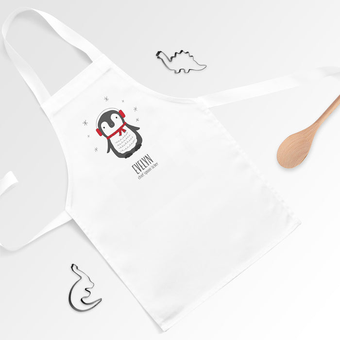 Personalised Penguin Apron