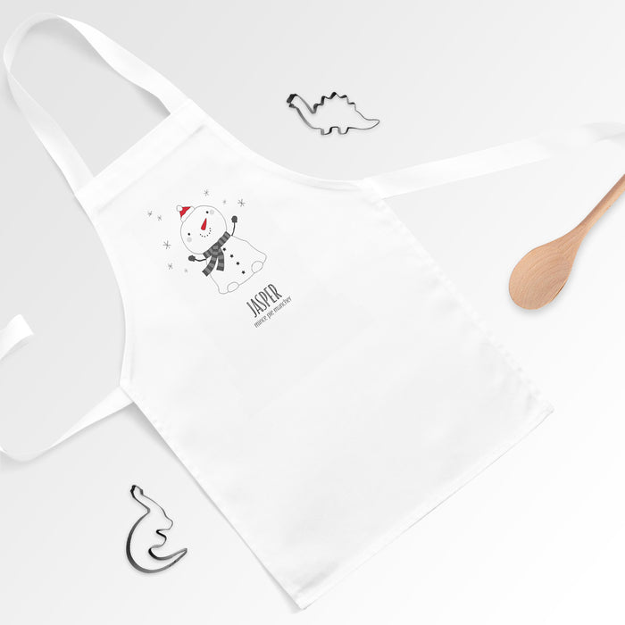 Personalised Snowman Apron