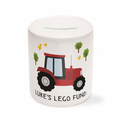 Children's Personalised Tractor Money Box