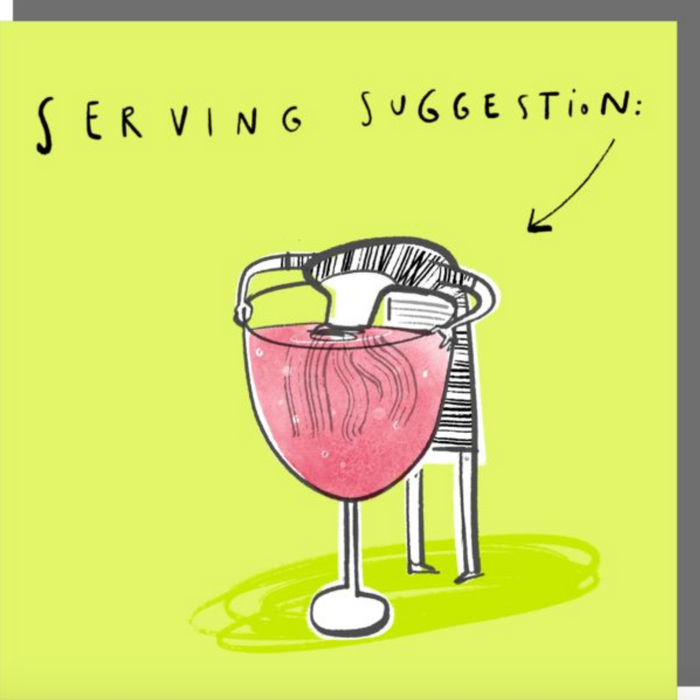 Rosie Made A Thing Serving Suggestion Card