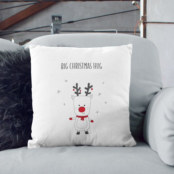 Personalised Rudolph Reindeer Cushion