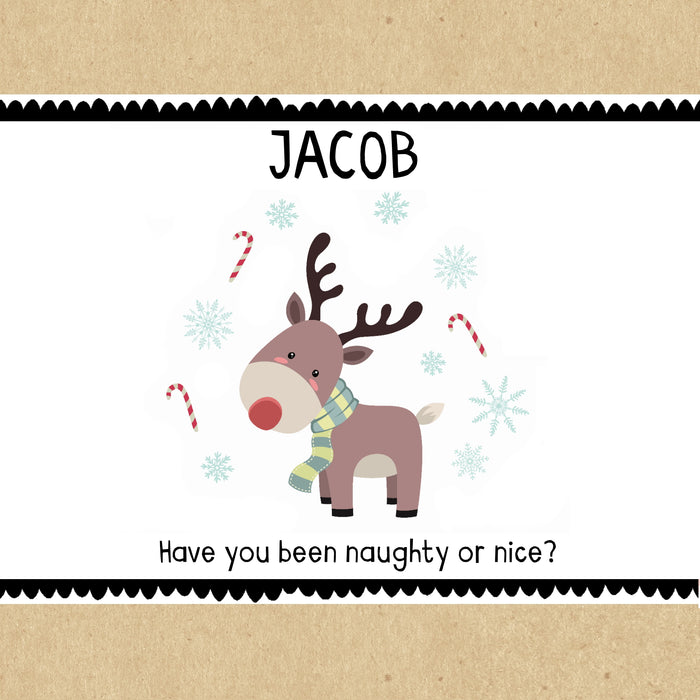 Reindeer Personalised Christmas Gift Box