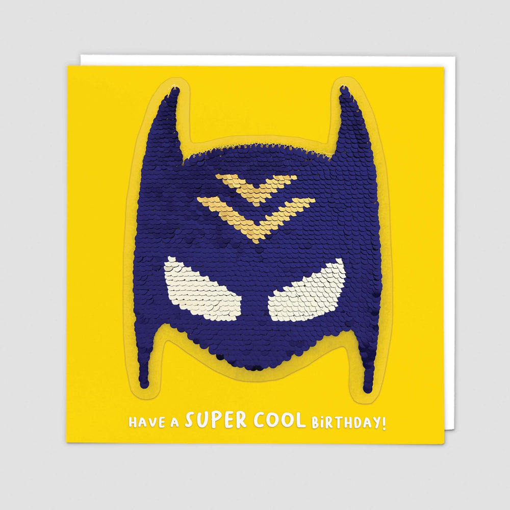 Superhero Reversible Sequin Card