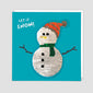 Snowman Reversible Sequin Christmas Card