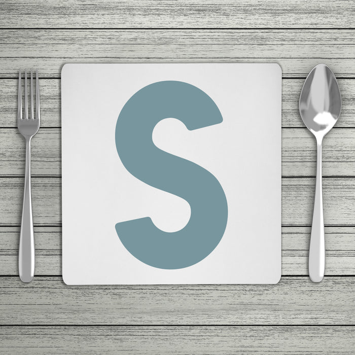 Bold Personalised Initial Placemat (Mix & Match Colours)