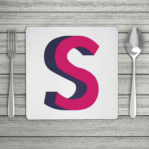 Bright 3D Personalised Initial Placemat