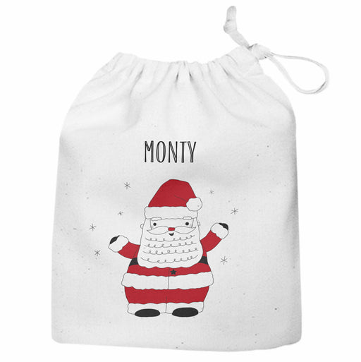 Personalised Santa Sack Gift Bag Father Christmas