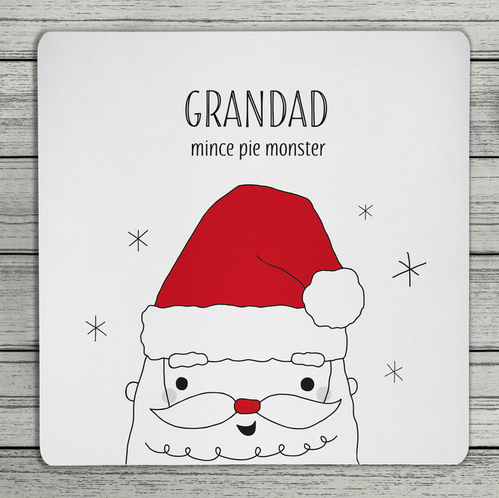 Personalised Father Christmas Santa Coaster