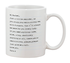 Black & White Personalised Message Mug