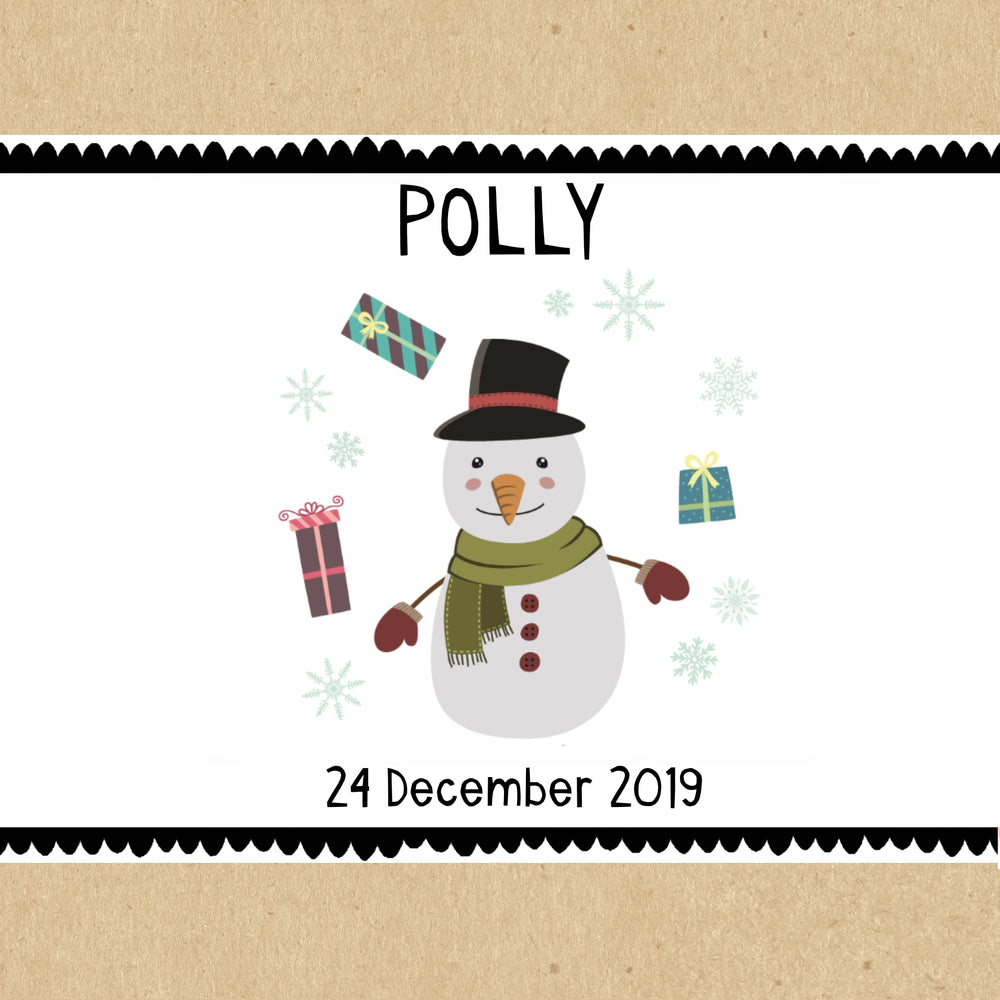 Snowman Personalised Christmas Gift Box