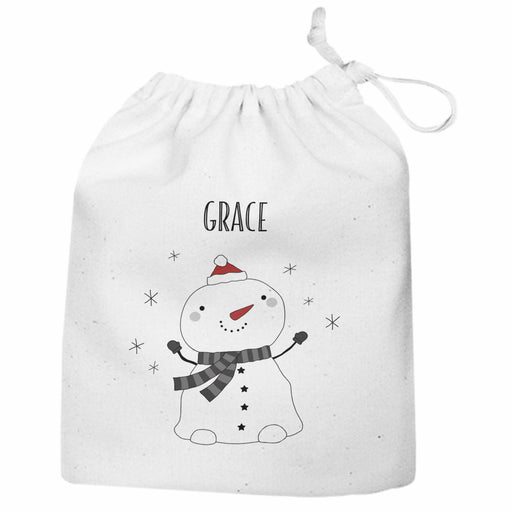 Personalised Christmas Snowman Large Gift Sack