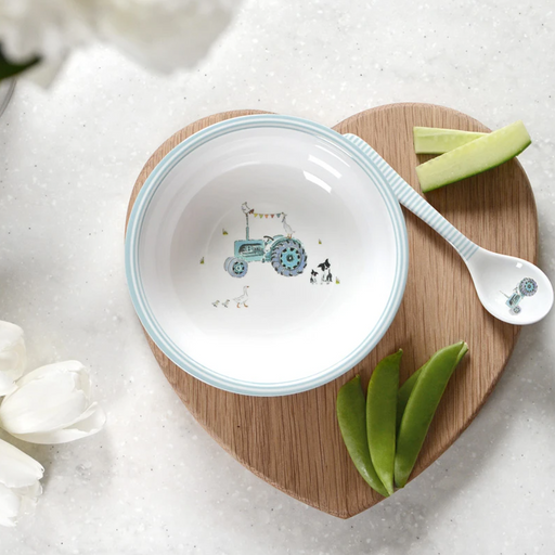 Sophie Allport On The Farm Bowl and Spoon Set