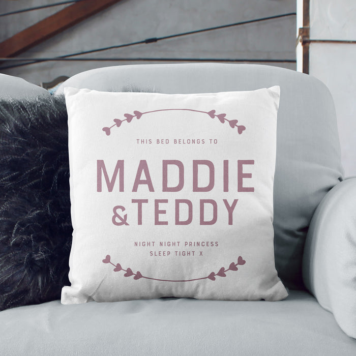 Personalised Happy Place Cushion