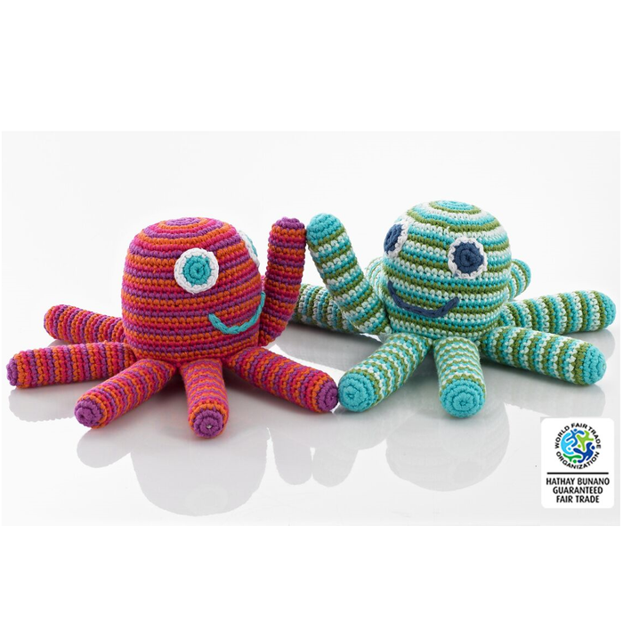 crocheted cotton octopus