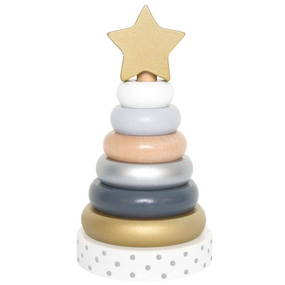 Stacking Toy Wooden metallic