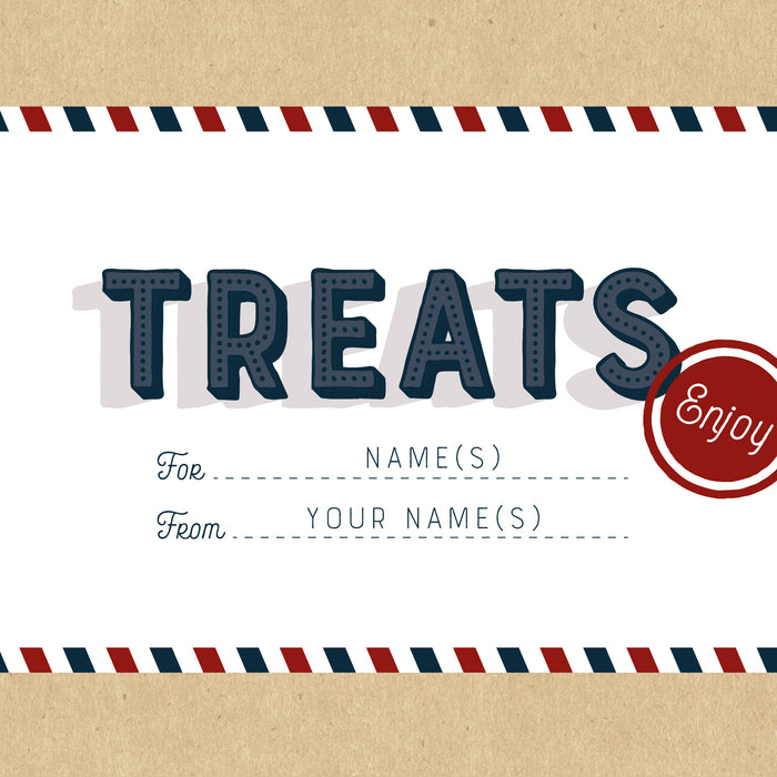 Personalised Treats Airmail Gift Box