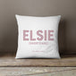 Personalised Name Cushion | Blue, Pink, Grey Or Black