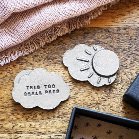 This Too Shall Pass Pocket Cloud Token