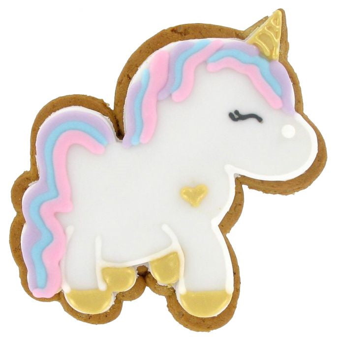 Unicorn Iced Gingerbread Biscuit