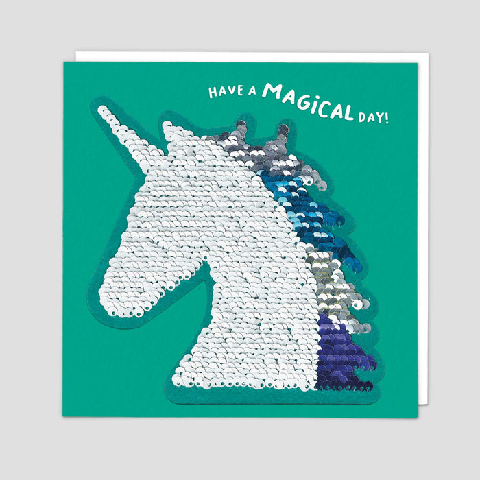 Unicorn Reversible Sequin Card