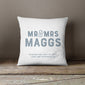 Mr and Mrs personalised cushion wedding gift