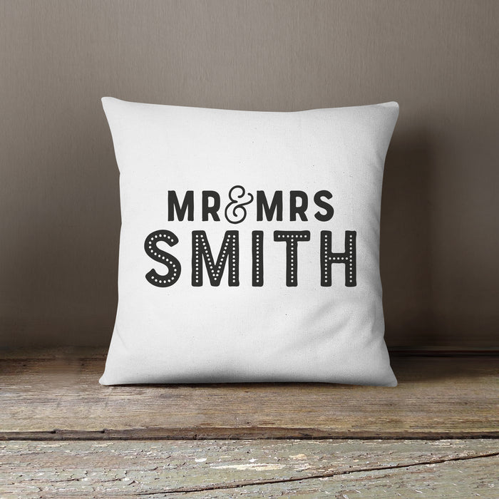 Personalised Wedding Anniversary Cushion | Grey, Blue, Pink or Black