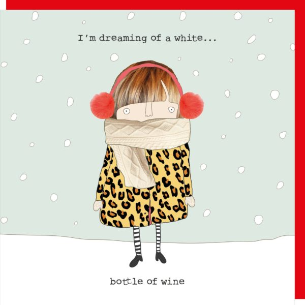 White Wine Christmas Card