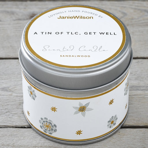 A Tin Of TLC Sandalwood Scented Candle