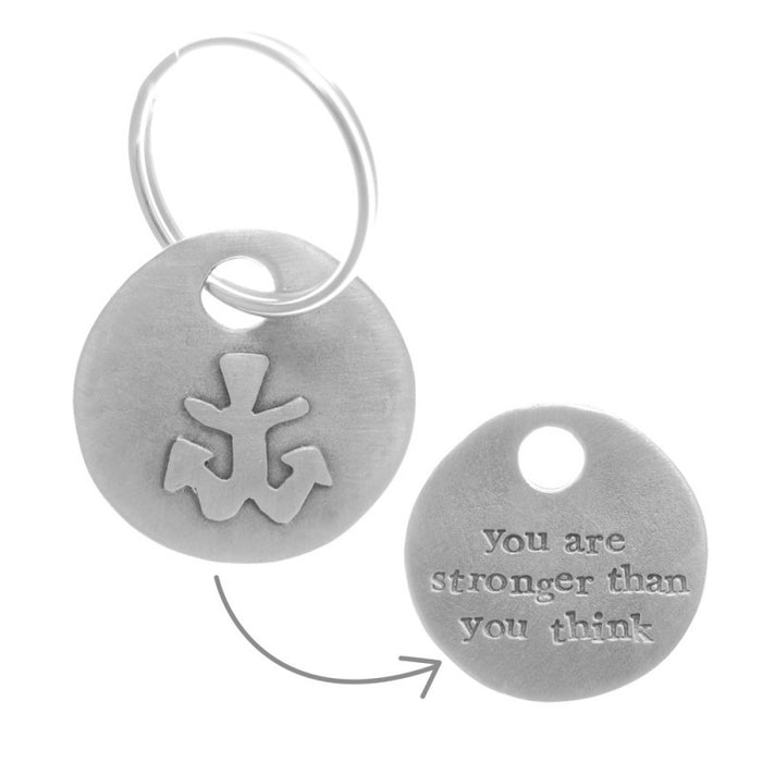 Anchor For Strength Keyring