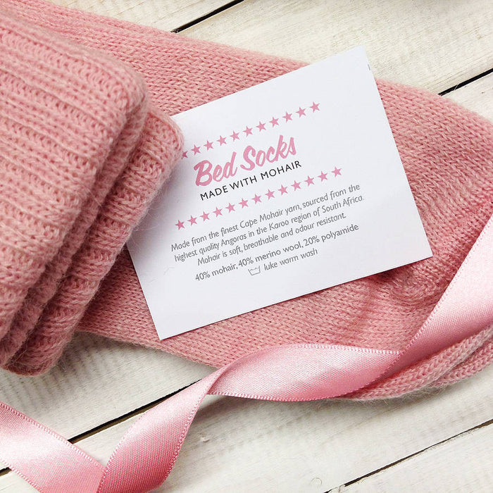 Mum-To-Be Mohair Bed Socks - Blue or Pink