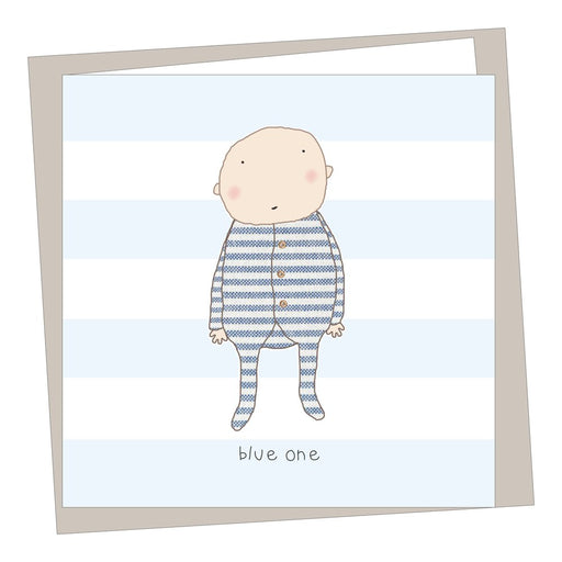 """Blue One"" New Baby Card"