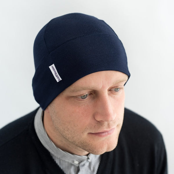 bab11f1ec67 Men s Bold Beanie In Navy — Not Another Bunch Of Flowers